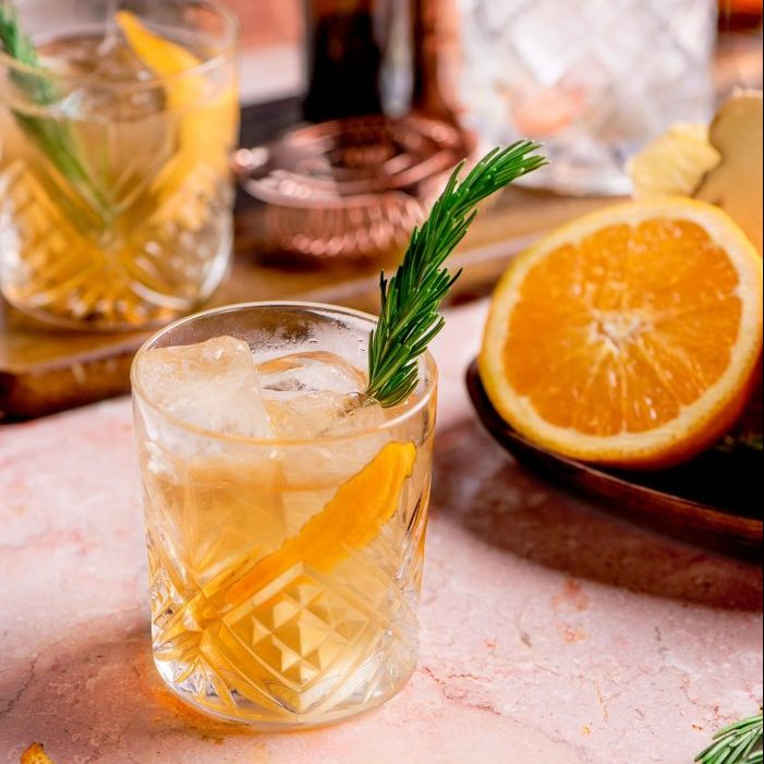 Northern Lights Old Fashion Cocktail from Fresh Restaurants.