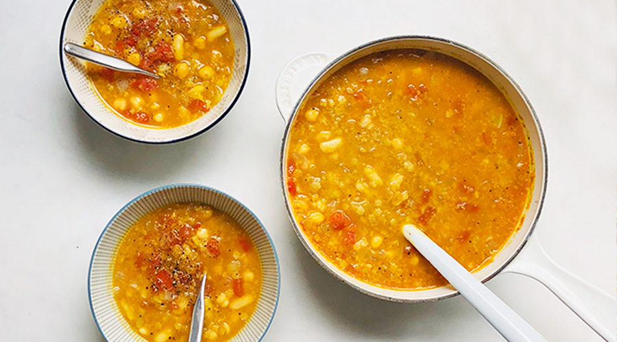 Chickpea and Stars Soup by Fresh Restaurants